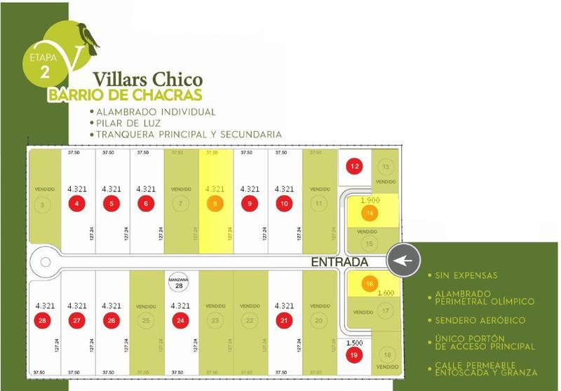 Foto Terreno en Venta en  Marcos Paz ,  G.B.A. Zona Oeste  Villars Chico 2