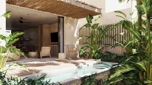 Foto Casa en Venta en  Tulum ,  Quintana Roo  CASA ESTILO BOHO - 2 HABITACIONES CON PISCINA y Rooftop EN TULUM- QUINTANA ROO