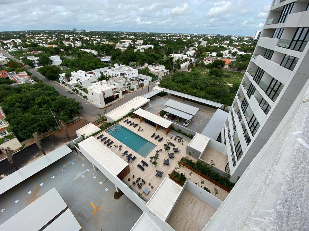 Foto Departamento en Renta en  San Ramon Norte,  Mérida  Renta de departamento amueblado, alberca, elevador y amenidades- entrega inmediata