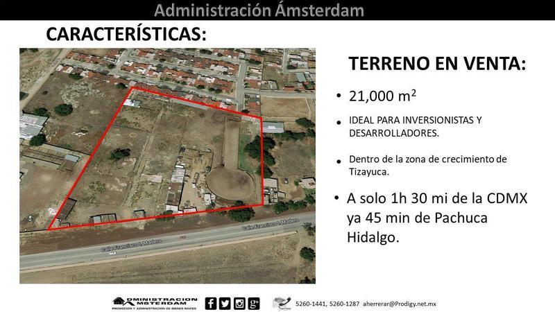 Foto Terreno en Venta | Renta en  Atempa,  Tizayuca  Calle Francisco I. Madero S/N