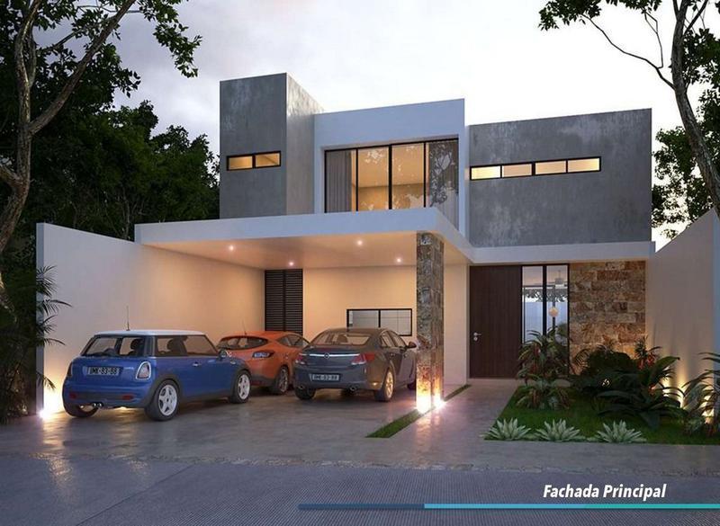 Foto Casa en Venta en  Pueblo Cholul,  Mérida  Casa en Privada Albarella, Mod H2, Lote 24