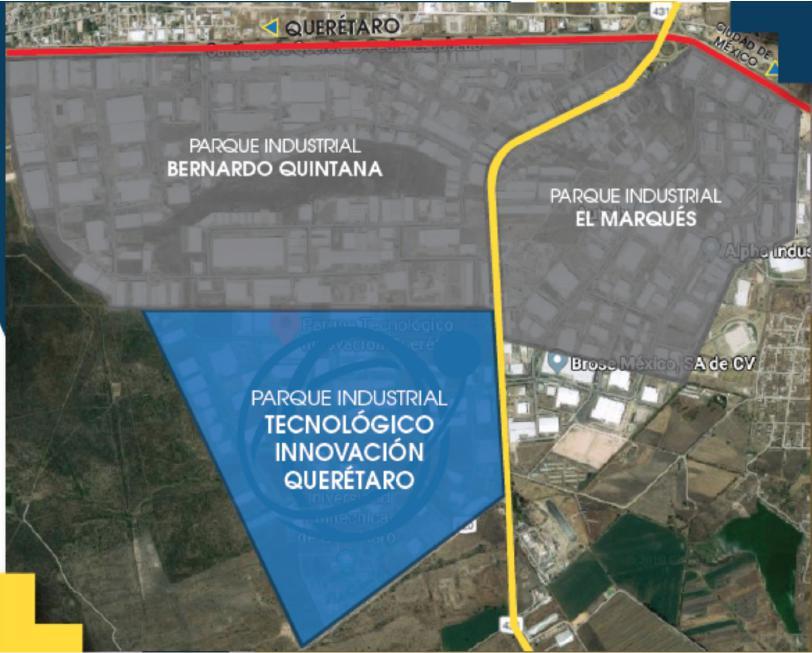 Foto Terreno en Venta en  El Marqués ,  Querétaro  PARQUE INDUSTRIAL INNOVACION EXCELENTE TERRENO