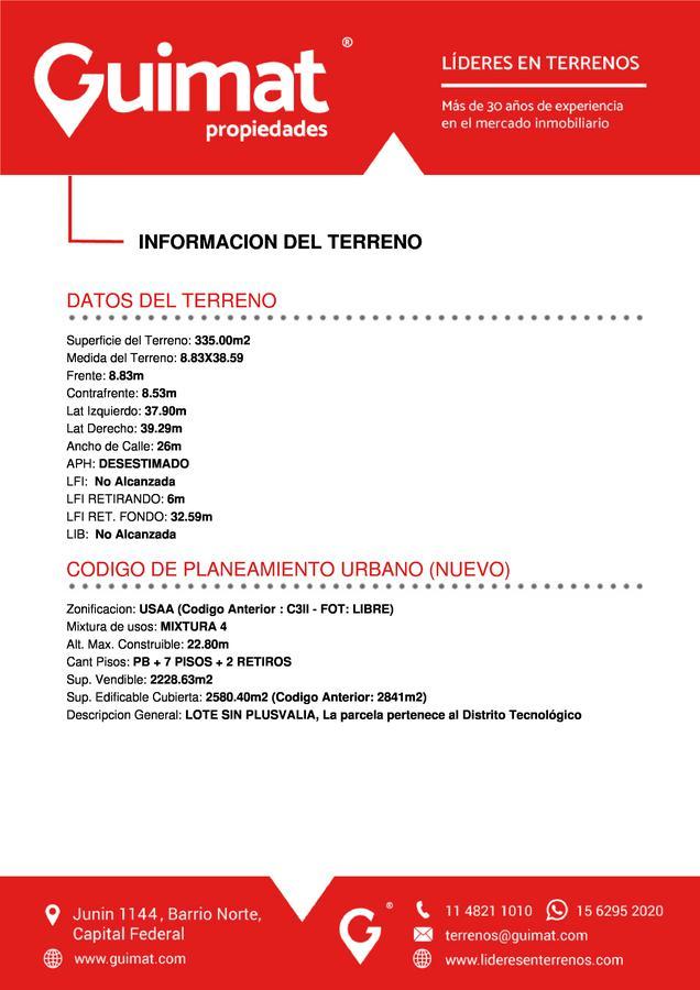 Foto Terreno en Venta en  Boedo ,  Capital Federal  BOEDO al 2000