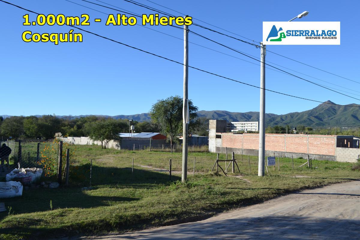 Foto Terreno en Venta en  Cosquin,  Punilla  1.000m2 en el Alto Mieres
