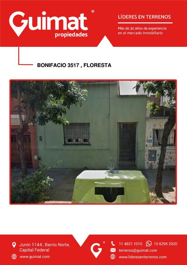 Foto Terreno en Venta en  Floresta ,  Capital Federal  BONIFACIO al 3500