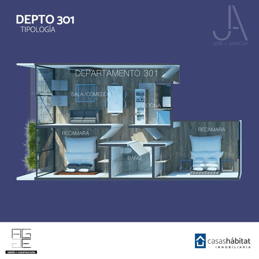 Foto Departamento en Venta en  Venustiano Carranza ,  Ciudad de Mexico  José J Jasso 61 - 301