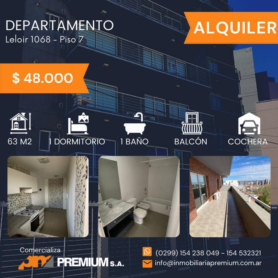 """Foto Departamento en Alquiler en  Neuquen,  Confluencia  Dpto - 1 Dormitorio -Leloir N° al 1068 piso 7 """"B""""- Neuquén Capital"""