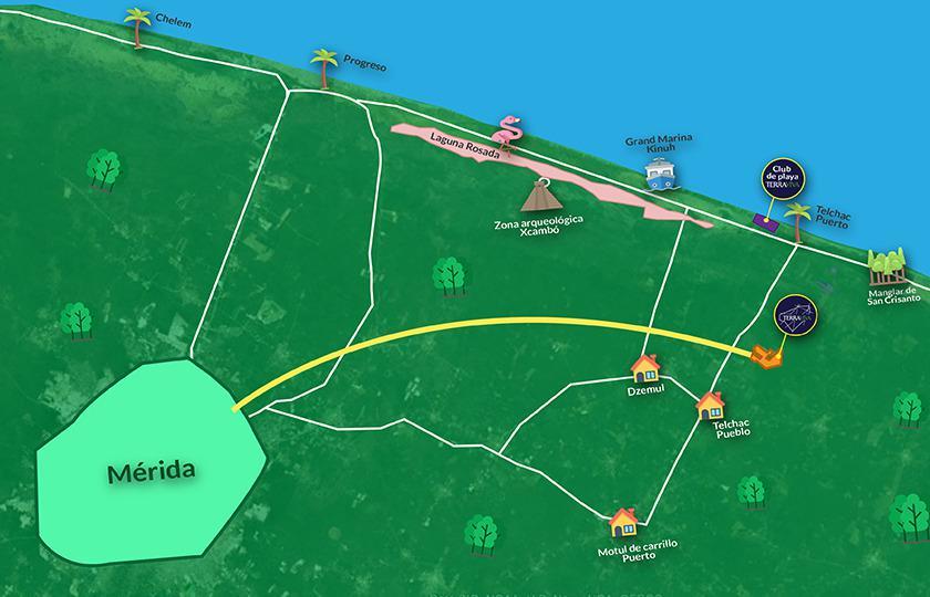 Foto Terreno en Venta en  Pueblo Telchac Puerto,  Telchac Puerto  Terreno en Venta en Telchac Puerto, Hacienda Terraviva, Financiamiento directo