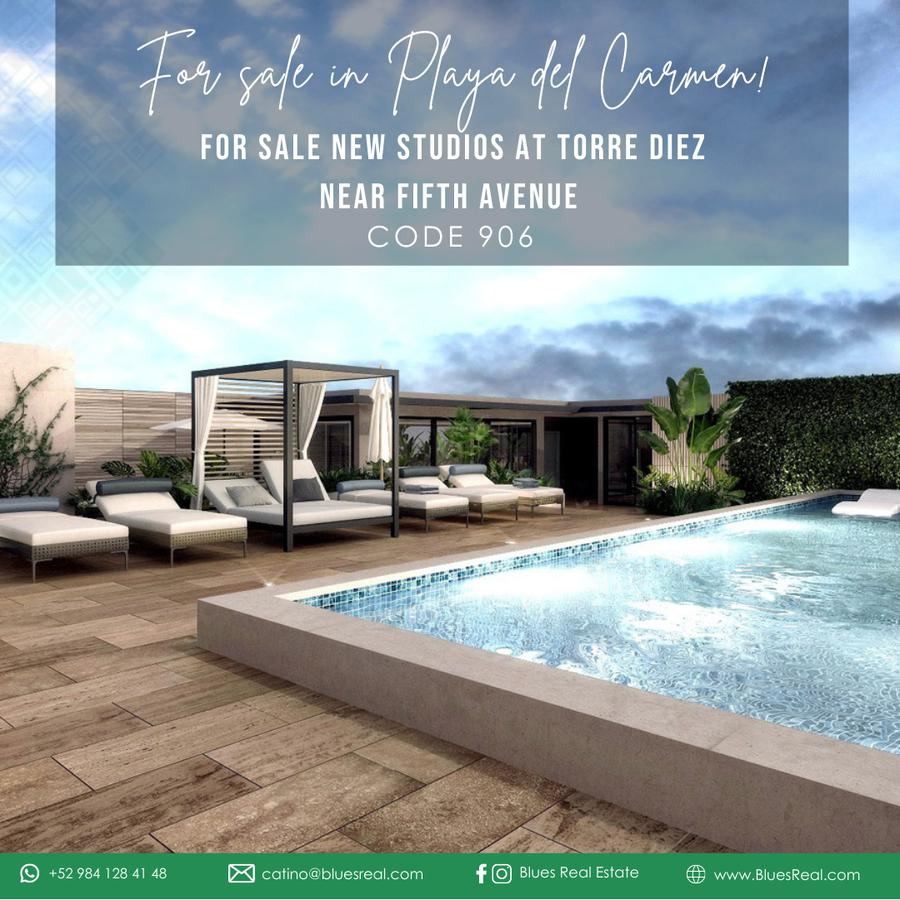 Picture Apartment in Sale in  Solidaridad ,  Quintana Roo  For sale NEW studios near fifth avenue in Torre Diez at Playa del Carmen   Blues Real   Code 906