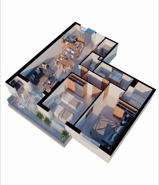 venta departamento 2 dormitorios Rosario, PELLEGRINI Y CORRIENTES. Cod CBU34621 AP3499312 Crestale Propiedades