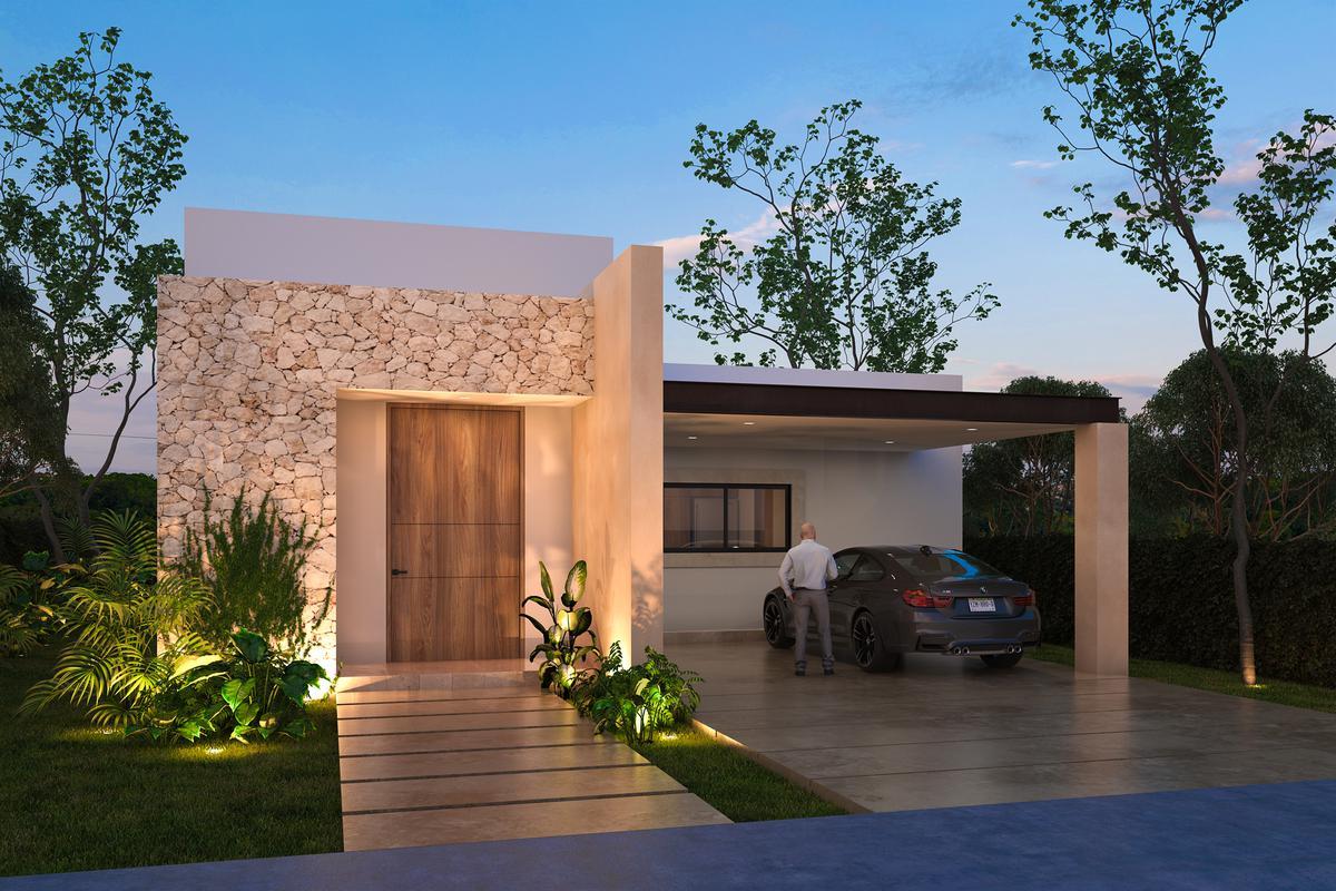 Foto Casa en Venta en  Pueblo Tamanche,  Mérida  Casa de 1 Planta Privada Rocio Country Living (Mod.226)