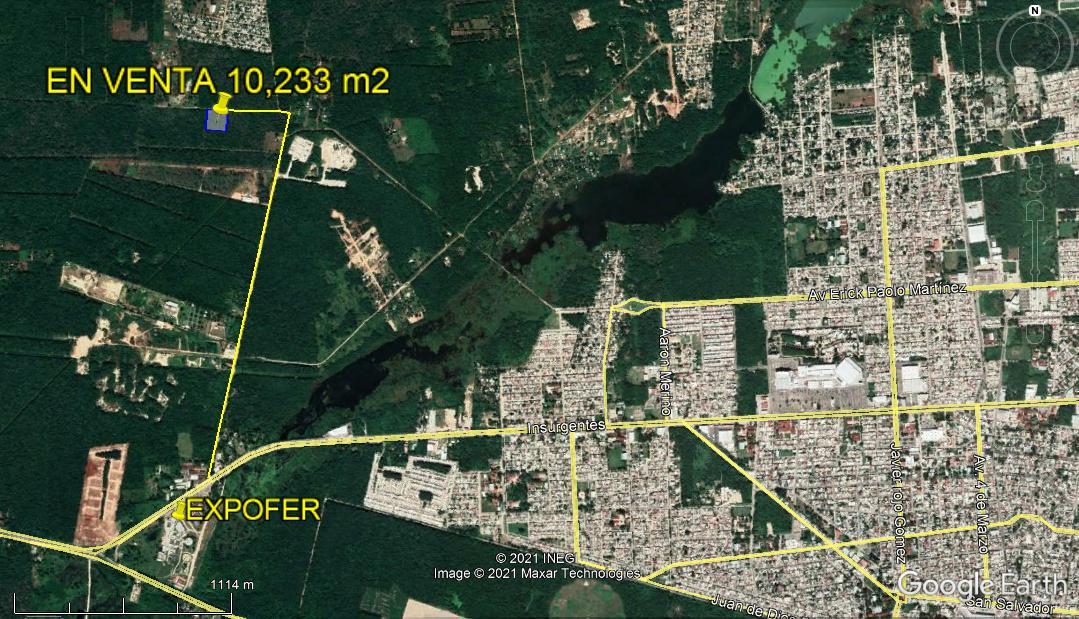 Foto Terreno en Venta en  Chetumal ,  Quintana Roo  TERRENO CAMPESTRE EN VENTA EN CHETUMAL 10,233 m2
