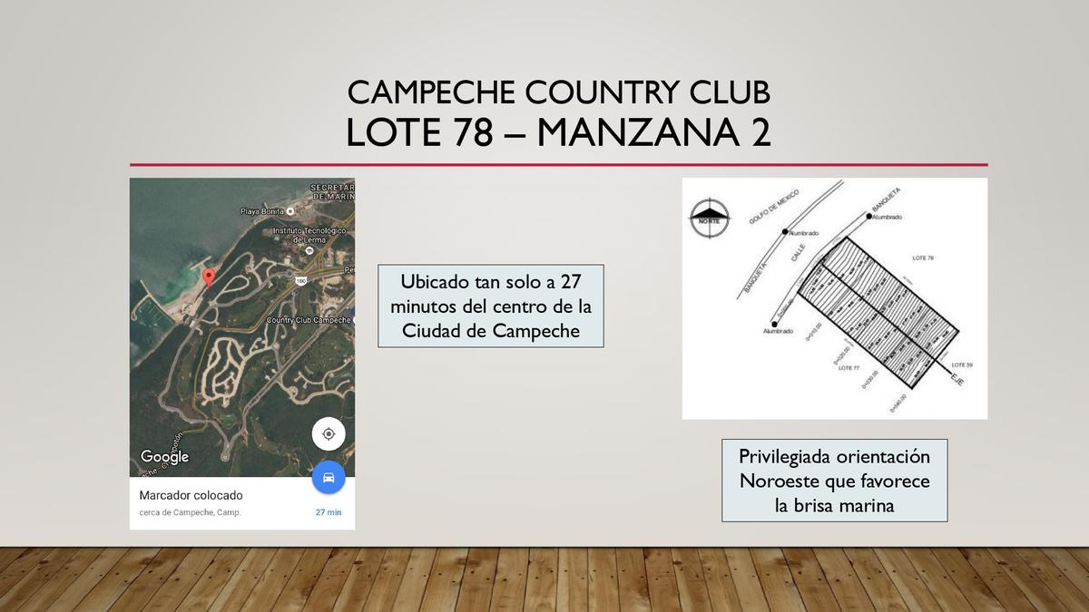 Foto Terreno en Venta en  Campeche ,  Campeche  Campeche Country Club, Lote 78 - Manzana 2