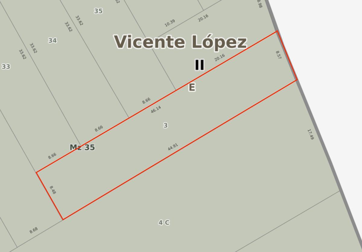 Foto Terreno en Venta en  Barrio Vicente López,  Vicente López  Av Maipu al 1700