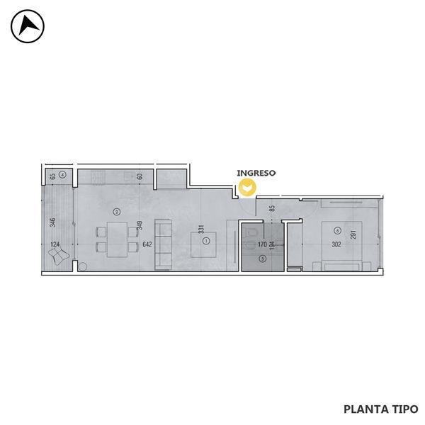 venta departamento 1 dormitorio Rosario, BALCARCE Y CATAMARCA. Cod CBU32609 AP3268657 Crestale Propiedades