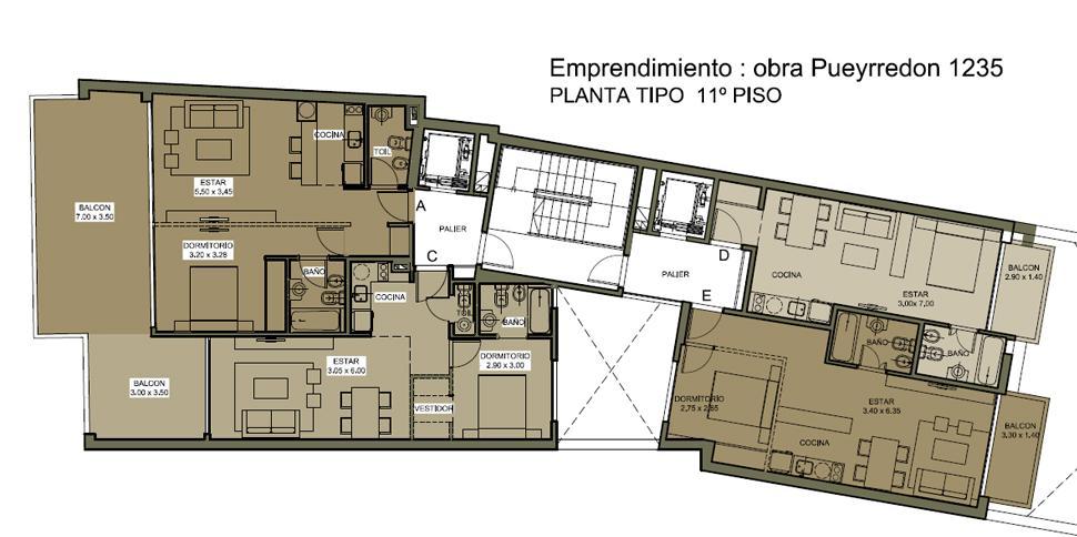 Foto Departamento en Venta en  Barrio Norte ,  Capital Federal  Av. Pueyrredon y Marcelo T. de Alvear 9°E