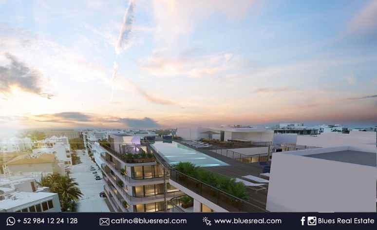 Picture Apartment in Sale in  Playa del Carmen,  Solidaridad  For sale in apartments in The Boat in Playa del Carmen | Blues Real | Código 334