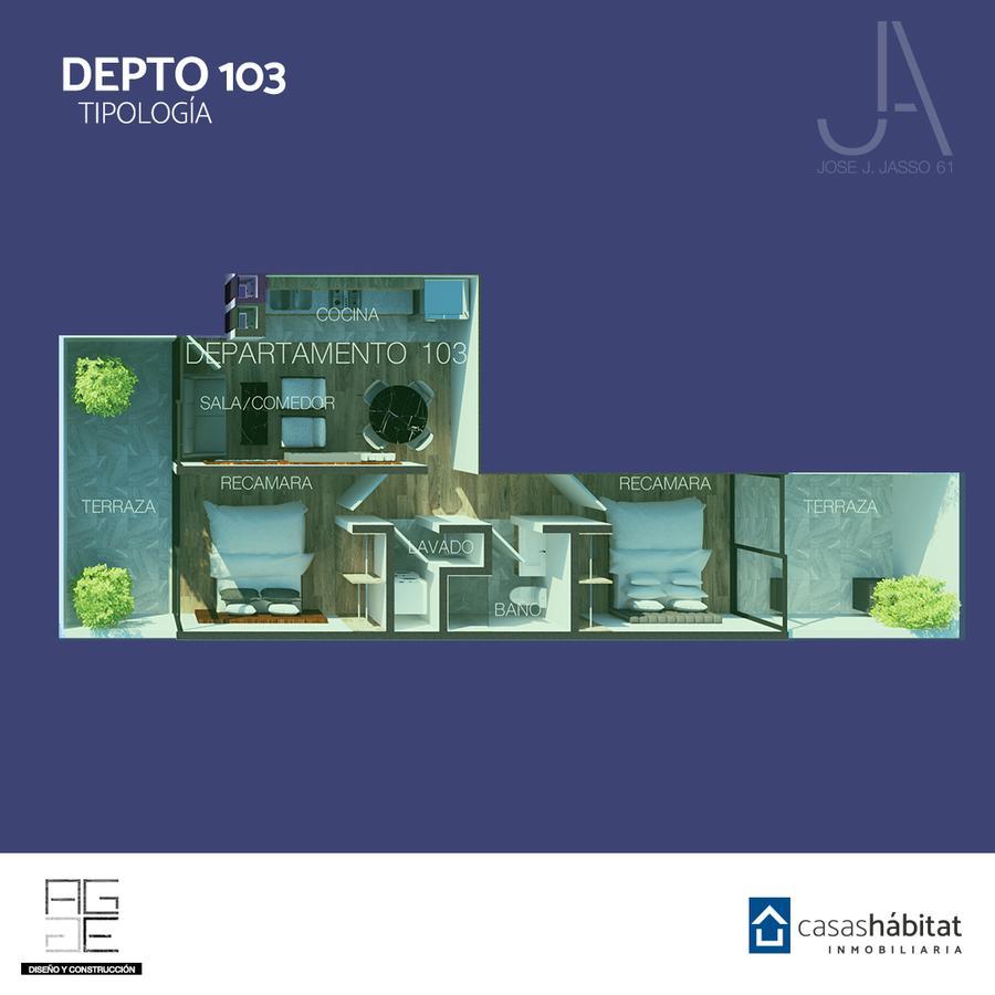 Foto Departamento en Venta en  Venustiano Carranza ,  Ciudad de Mexico                   José J Jasso 61 - 103
