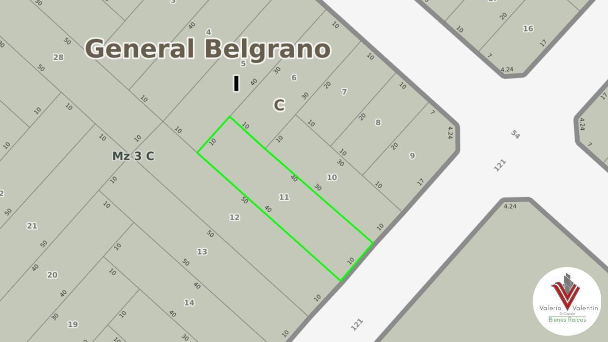 Foto Terreno en Venta en  Meneses,  General Belgrano  121 e/ 52 y 54
