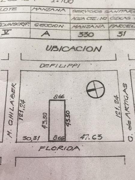 Foto Terreno en Venta en  Ituzaingó,  Ituzaingó  Florida al 1200