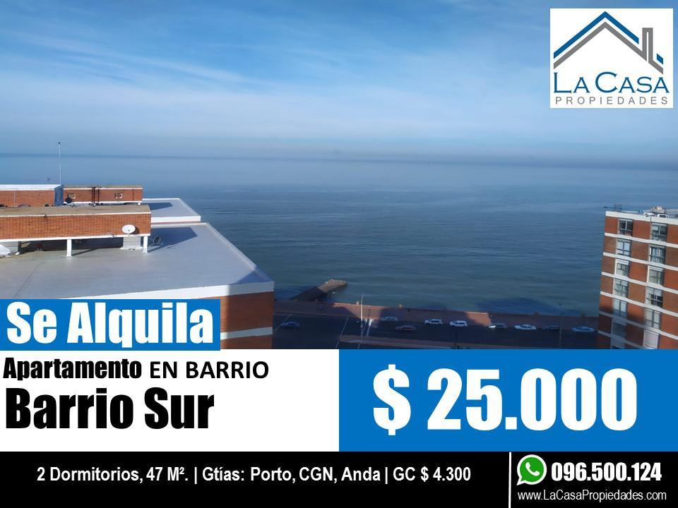Foto Apartamento en Alquiler en  Barrio Sur ,  Montevideo  Paraguay al 1000