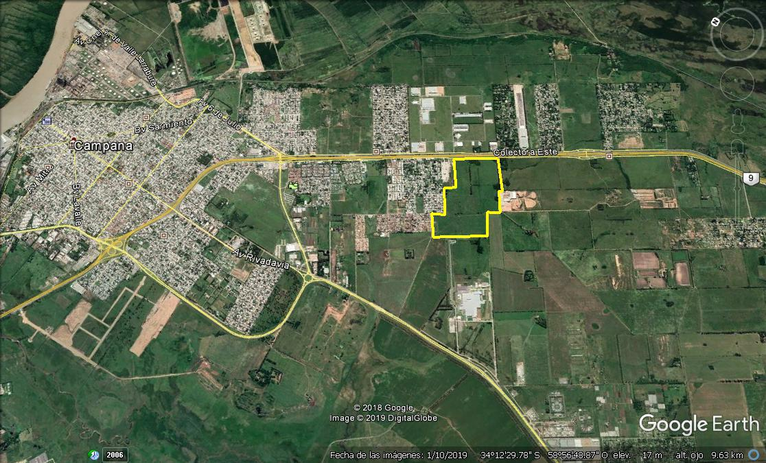 Foto Campo en Venta en  Campana ,  G.B.A. Zona Norte  Fracción Única de 100 Has. Sobre Panamericana, a 70 km de CABA