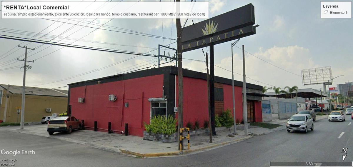 Foto Local en Renta en  Ruiz Cortínes,  Guadalupe  Propiedad COMERCIAL Esquina Ave RANGEL FRIAS