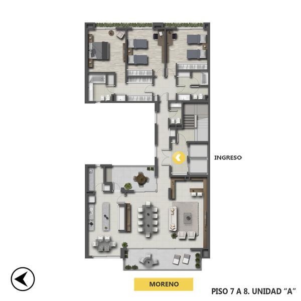 Venta departamento 3 dormitorios Rosario, Centro. Cod CBU24681 AP2297749. Crestale Propiedades