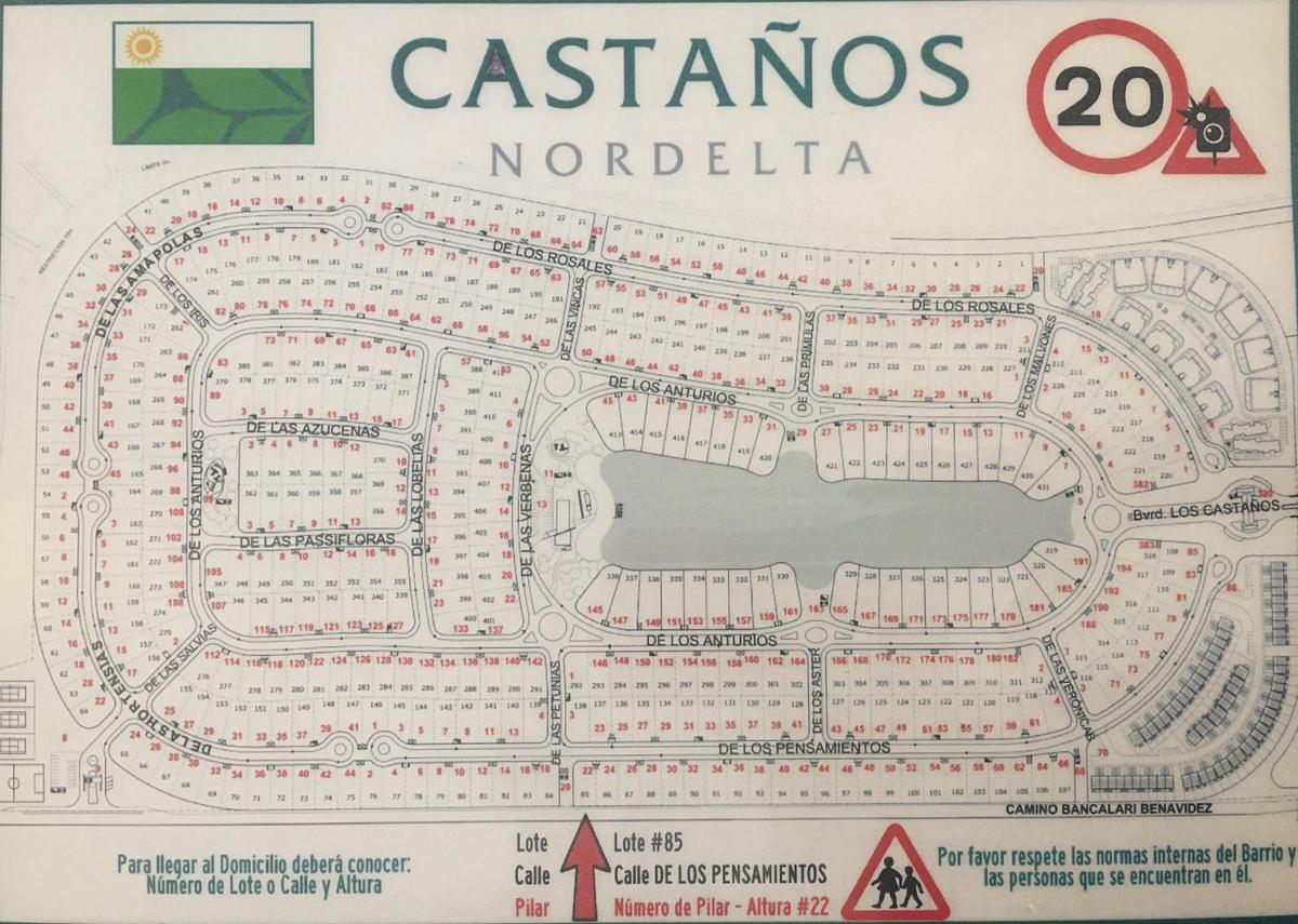 Foto Terreno en Venta en  Los Castaños,  Nordelta  BARRIO CASTAÑOS -NORDELTA