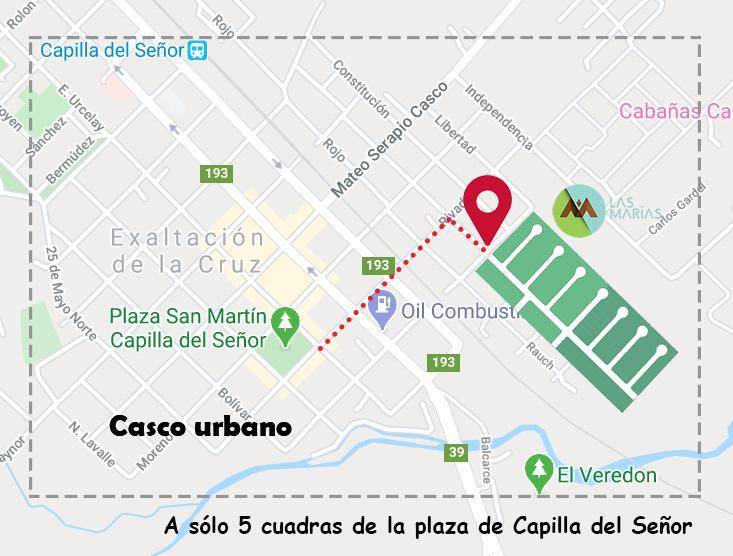 Foto Terreno en Venta en  Capilla Del Señor,  Exaltacion De La Cruz          Barrio Las Marias , Capilla del Señor SIN EXPENSAS lote B1