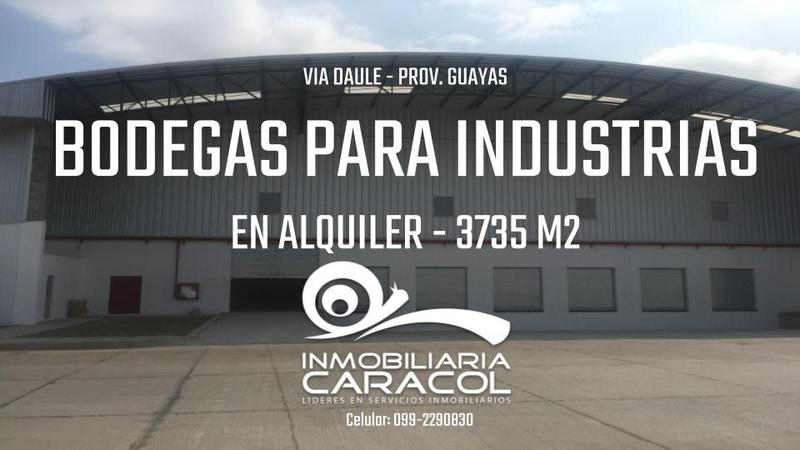 Foto Bodega en Alquiler en  Centro de Guayaquil,  Guayaquil  Via a Daule bodega estrene 3.735 m2