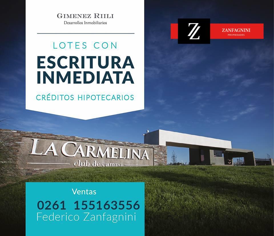 Foto Terreno en Venta en  San Martin ,  Mendoza  La Carmelina Mza M lote 6
