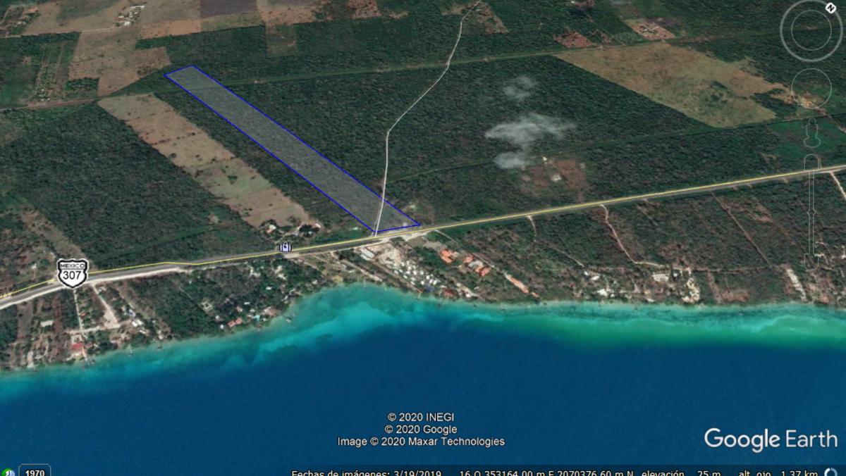Foto Terreno en Venta en  Bacalar ,  Quintana Roo  A la entrada de Bacalar