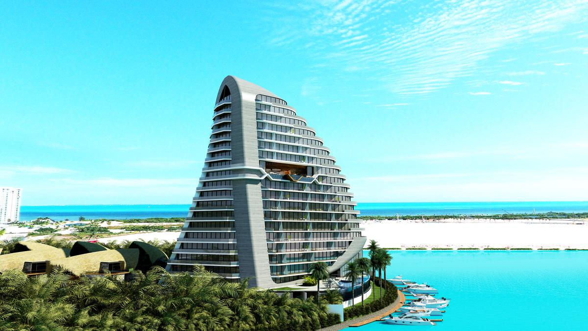 Picture Apartment in Sale in  Zona Hotelera,  Cancún  Puerto Cancun- Shark Tower