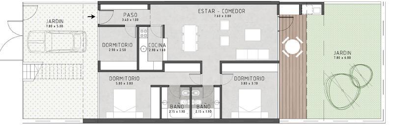 Foto Departamento en Venta en  Jose Marmol,  Almirante Brown  Condominio Mármol Verde. Dorrego al 500