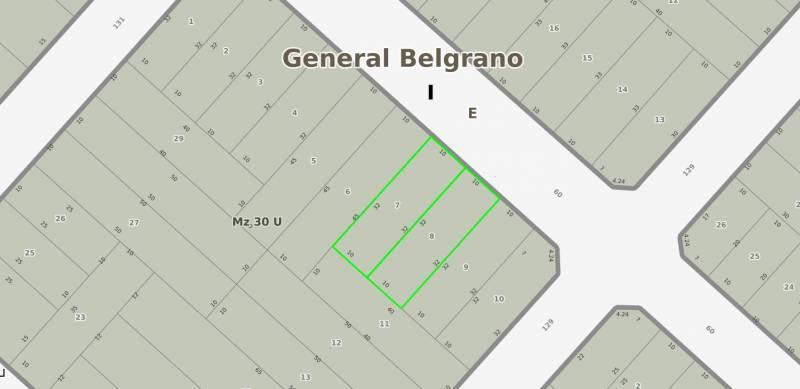 Foto Terreno en Venta en  General Belgrano,  General Belgrano  60 e/ 129 y 131 al 100