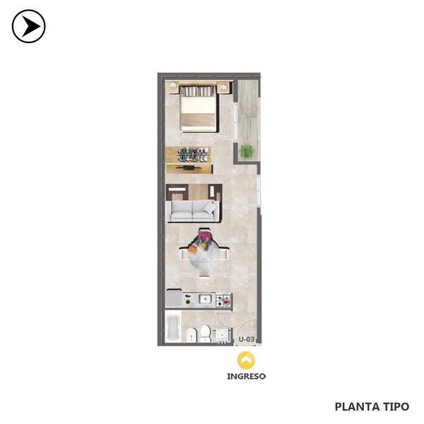 venta departamento 1 dormitorio Rosario, LAGOS 600. Cod CBU30692 AP2903047 Crestale Propiedades