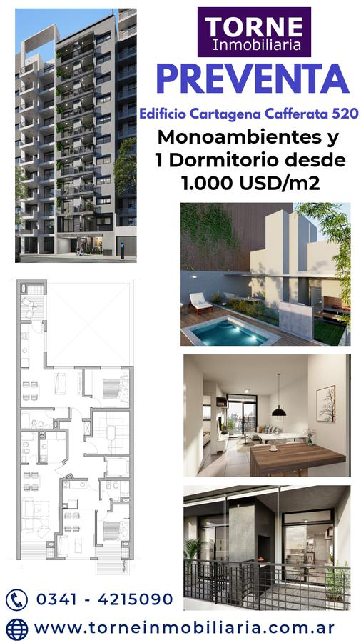 Foto Departamento en Venta en  Rosario,  Rosario  Monoambiente  - Cafferata 520 - Edificio Cartagena