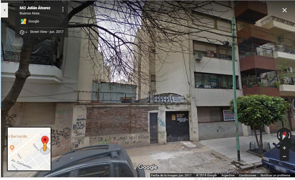 Foto Terreno en Venta en  Villa Crespo ,  Capital Federal  Muy buen lote, incidencia menor a 600 dls m2 Julian Alvarez 662