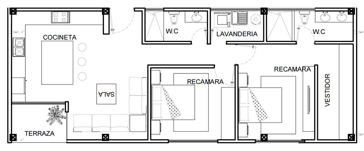 Foto Departamento en Venta en  Fraccionamiento Jardines de La Concepcíon,  Aguascalientes  Departamentos en Venta en Bosques (2 recámaras 90 m2)