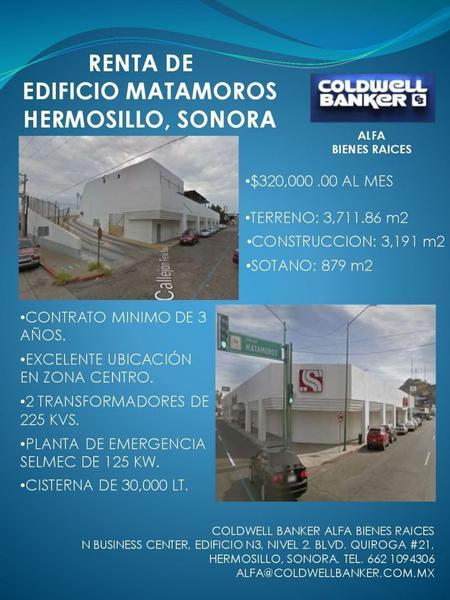 Foto Edificio Comercial en Renta en  Hermosillo Centro,  Hermosillo  EDIFICIO COMERCIAL RENTA CENTRO