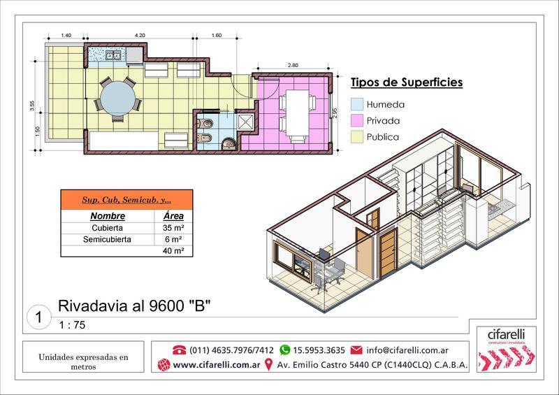 Foto Departamento en Venta |  en  Villa Luro ,  Capital Federal  Av. Rivadavia al 9600 8° B