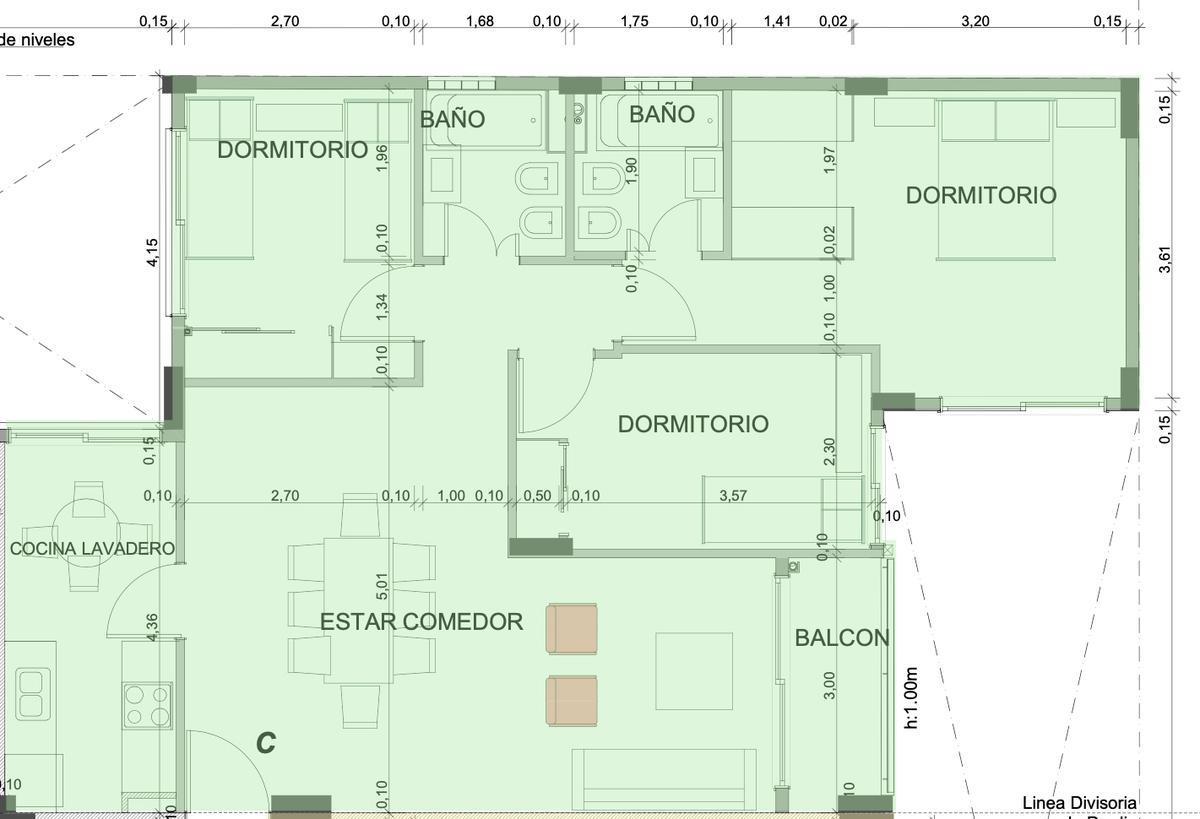 Foto Departamento en Venta en  Caballito Norte,  Caballito  Av. Gaona al 1973 - 3° C