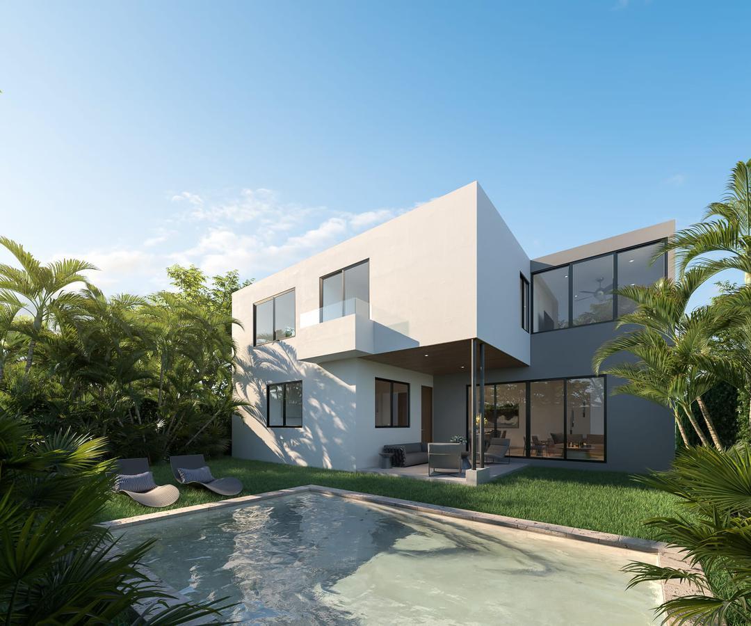 Foto Casa en Venta en  Temozon Norte,  Mérida  Casa 4 recámaras y piscina en venta en privada con seguridad en Temozón, Mérida