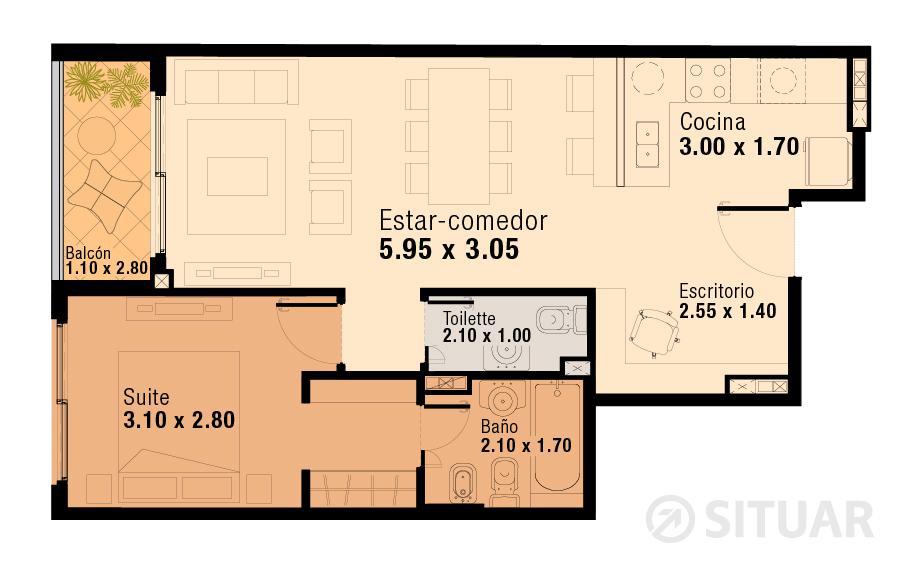 Foto Departamento en Venta en  Flores ,  Capital Federal  Pavillon San Jose - Unidad 217 - Pedernera 50 - Flores