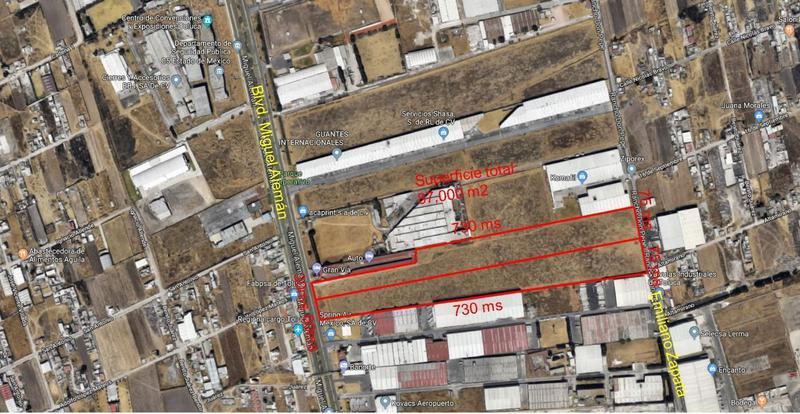Foto Terreno en Venta en  San Pedro Totoltepec,  Toluca  Venta de 2 Terrenos sobre Blvd. Miguel Alemán Toluca