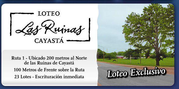 Foto Terreno en Venta en  Cayasta,  Garay  Teófilo Madrejón - Lote 2
