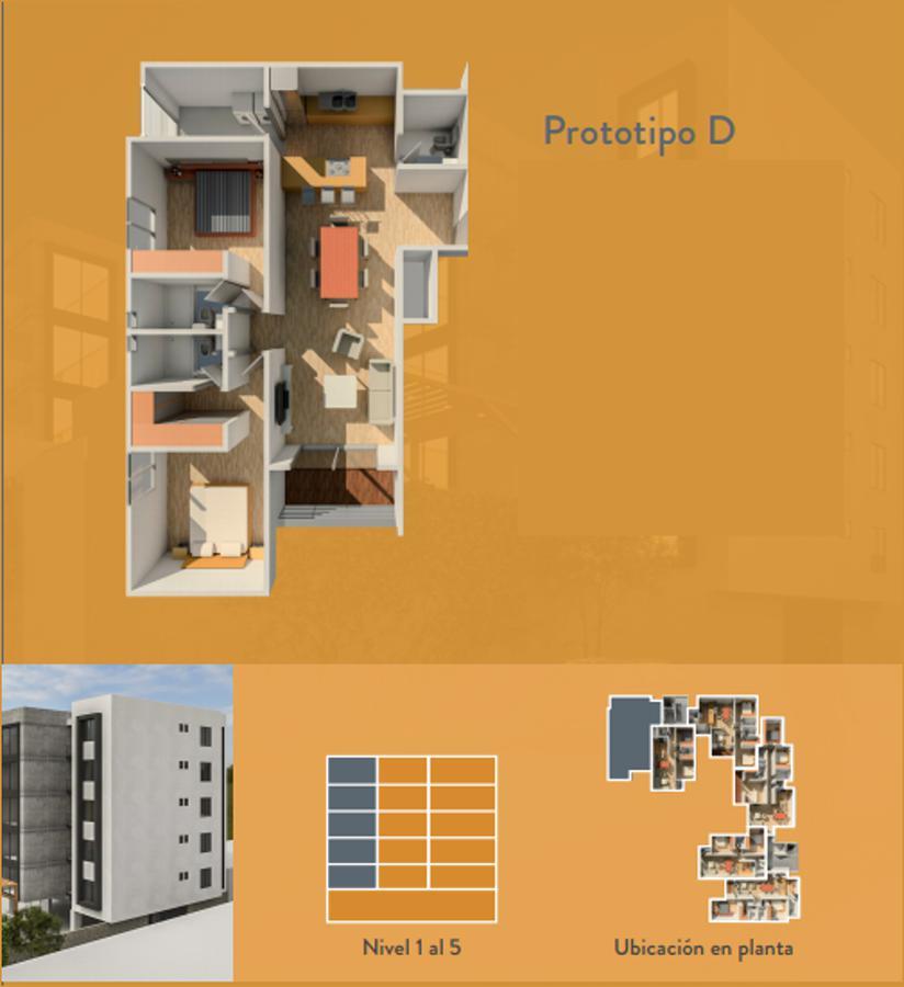 Foto Departamento en Venta en  Garita de Jalisco,  San Luis Potosí  Departamento, Prototipo D, Piso 3- Estrella 445 esquina con Granizo, Garita de Jalisco, San Luis Potosí, S.L.P.