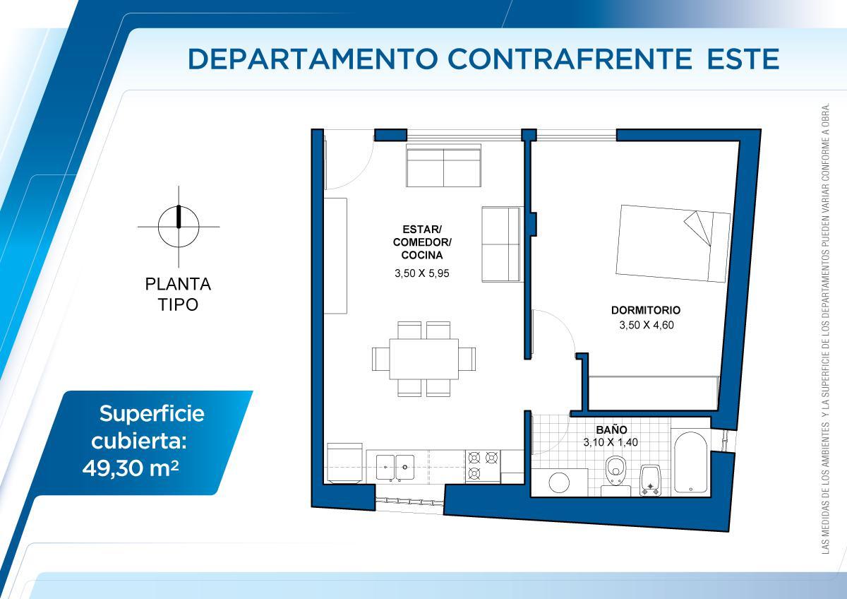 Foto Departamento en Venta en  Sur,  Santa Fe  2° piso Este Contrafrente - 3 de febrero 3123