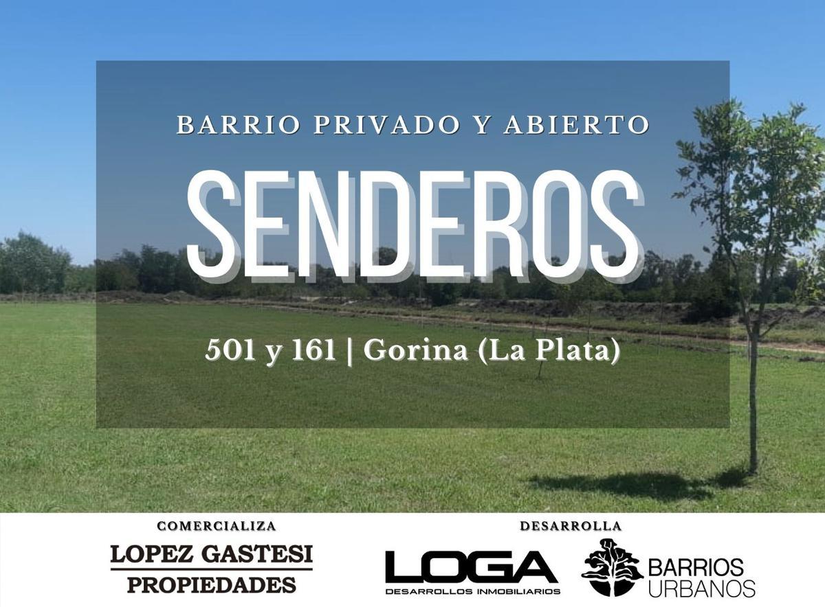 Foto Terreno en Venta en  Joaquin Gorina,  La Plata  501y161   SENDEROS (ABIERTO) MZA.B-LOTE 24 (300 mts)